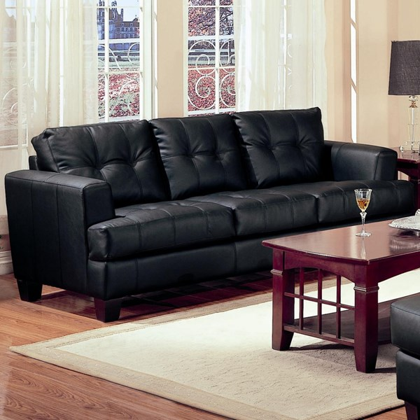 Coaster Furniture Samuel Wood Bonded Leather Tufted Sofas CST-5016-SOFA-VAR