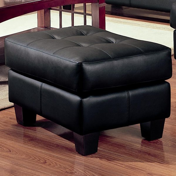 Samuel Wood Bonded Leather Tufted Ottomans CST-5016-OTM-VAR