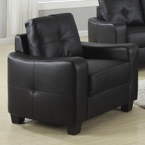 Jasmine Black Solid Wood Leather Pillow Back Chair CST-502723