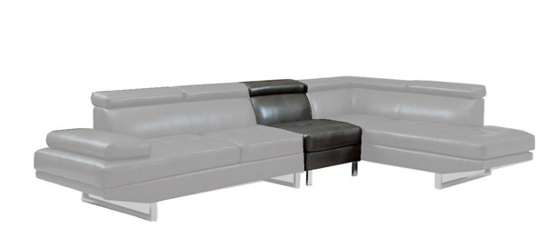 Piper Contemporary Charcoal Bonded Leather Armless Chair CST-503029AC