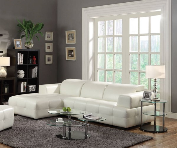Coaster Furniture Darby White Sectional CST-503617