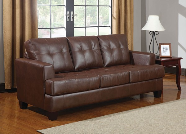 Coaster Furniture Samuel Brown Sofa Sleeper CST-504070