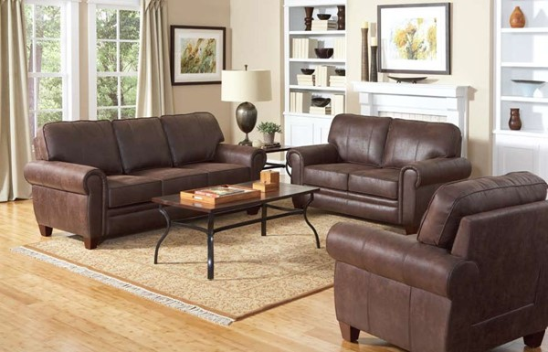 Bentley Traditional Brown Fabric Living Room Set CST-504201-Set