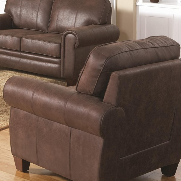 Bentley Traditional Brown Fabric Chair ( L 40.5 X W 34 X H 37 ) CST-504203