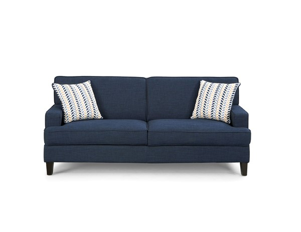 Finley Transitional Ink Blue Wood Fabric Sofa CST-504321