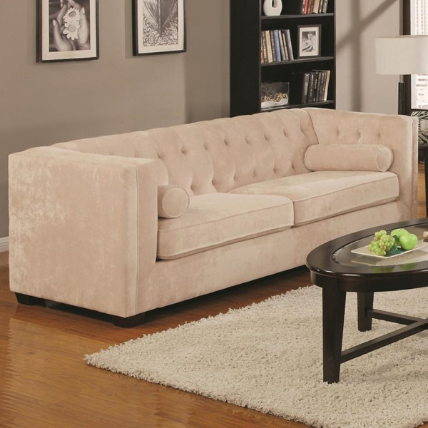 Coaster Furniture Alexis Almond Fabric Sofa CST-504391