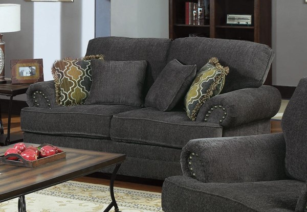 Colton Smoky Grey Fabric Loveseat CST-504402