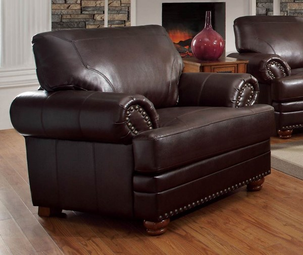 Colton Traditional Brown Bonded Leather Chair CST-504413