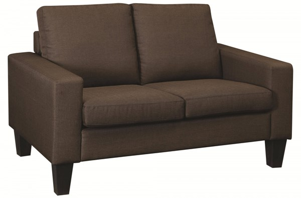 Bachman Casual Chocolate Fabric Wood Love Seat CST-504768