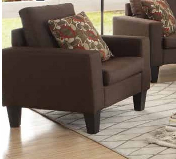 Bachman Casual Chocolate Fabric Wood Chair CST-504769