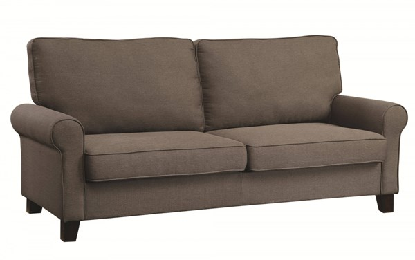 Noella Casual Grey Chocolate Fabric Wood Sofas CST-504781-91-VAR