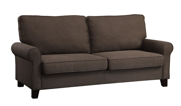 Noella Casual Chocolate Fabric Wood Sofa CST-504791