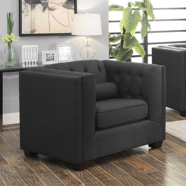 Coaster Furniture Cairns Charcoal Chair The Classy Home