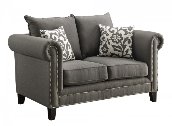 Emerson Charcoal Fabric Cushion Back Loveseat CST-504912