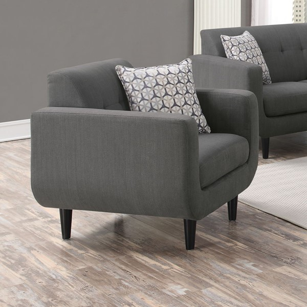 Stansall Modern Grey Ivory Fabric Chairs CST-505203-06-VER
