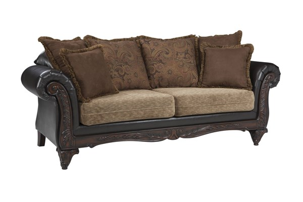 Garroway Traditional Chocolate Chenille Pocket Coil Seating Sofa CST-505231