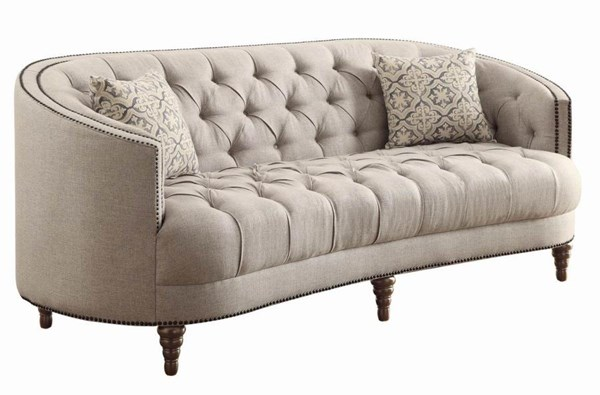 Coaster Furniture Avonlea Grey Fabric Nailhead Sofa CST-505641