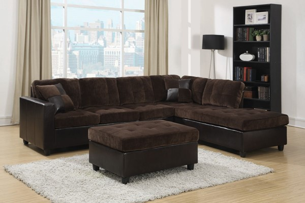 Coaster Furniture Mallory Chocolate Sectional CST-505645