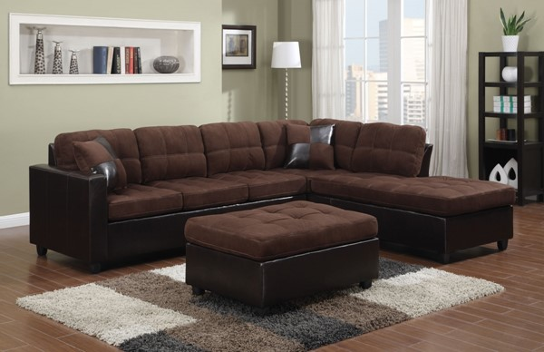 Coaster Furniture Mallory Chocolate Sectional Without Ottoman CST-505655