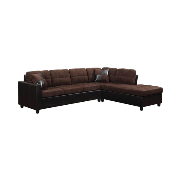 Coaster Furniture Mallory Chocolate Tufted Sectional CST-505655
