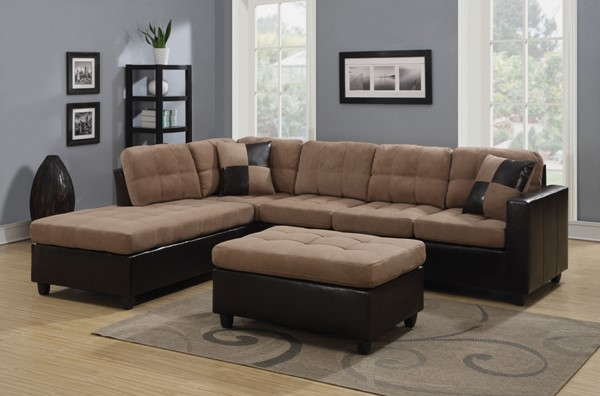 Coaster Furniture Mallory Tan Sectional CST-505675