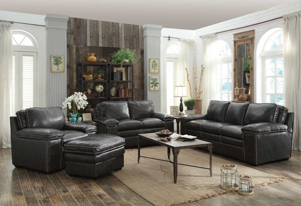 Regalvale Leather Match 4pc Living Room Sets CST-505841-VAR