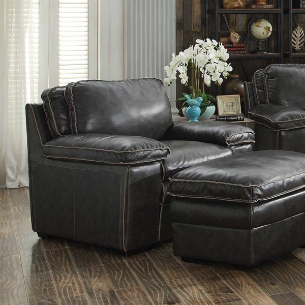 Regalvale Charcoal Brown Leather Match Chairs CST-505843-47-VAR