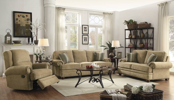 Colton Wheat Chenille Removable Back Cushion w/Pillows Living Room Set CST-50585-LR