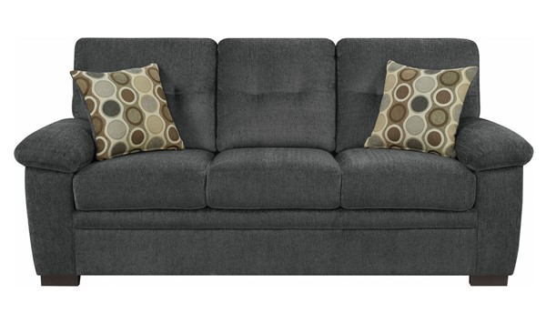 Coaster Furniture Fairbairn Charcoal Sofa CST-506584