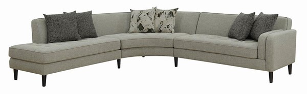 Coaster Furniture Pearshall Grey Sectional CST-506627