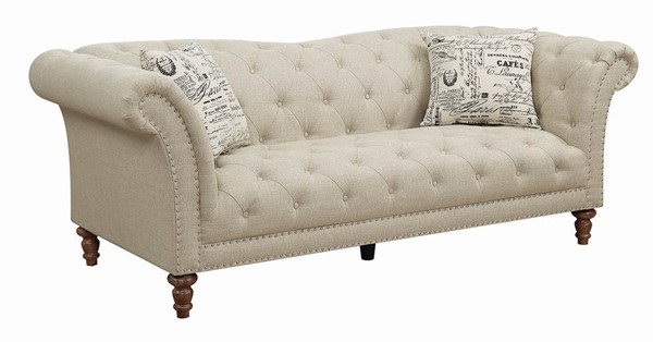 Coaster Furniture Josephine Oatmeal Fabric Sofa CST-508181