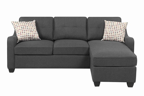 Coaster Furniture Nicolette Dark Grey Sectional CST-508321