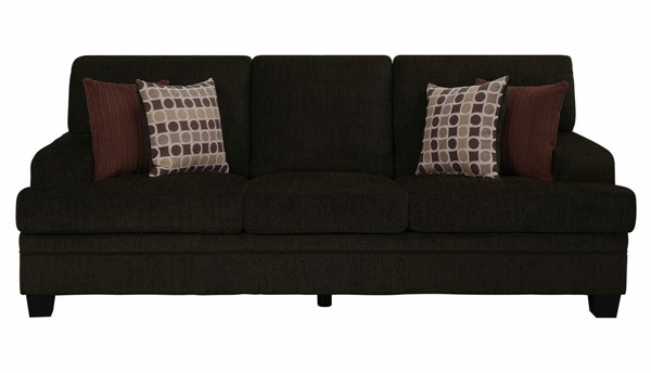 Coaster Furniture Griffin Brown Chenille Sofa CST-508381