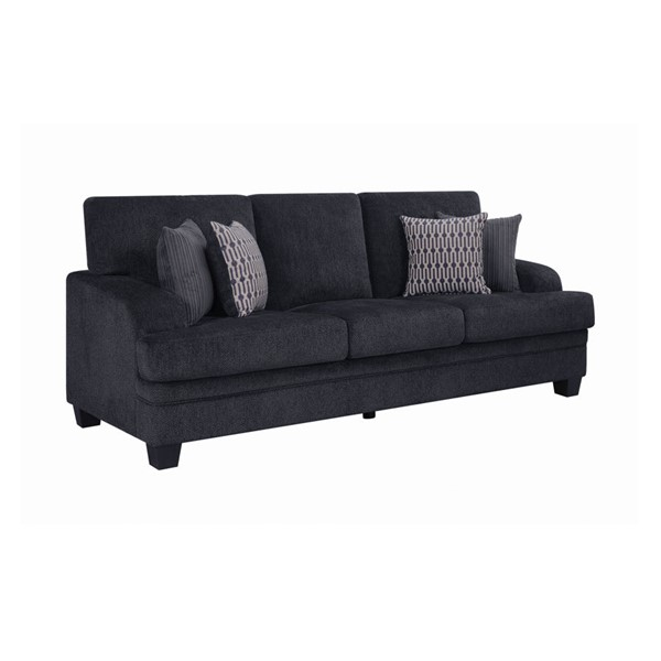 Coaster Furniture Stewart Grey Chenille Sofa CST-508391