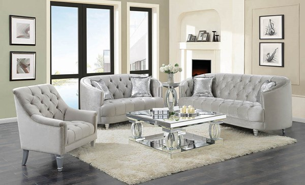 Coaster Furniture Avonlea Grey 3pc Living Room Set The