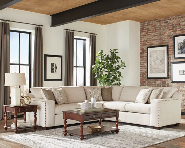Coaster Furniture Aria Oatmeal Chenille Sectional CST-508610