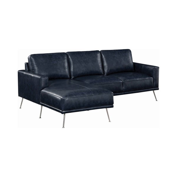 Coaster Furniture Narrot Navy Blue Sectional CST-508800