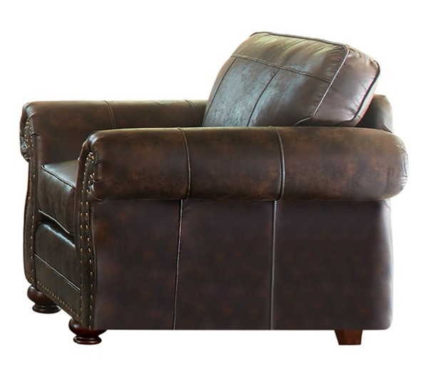 Coaster Furniture Graceville Dark Brown Chair and Ottoman Set CST-50889-CHO-S1