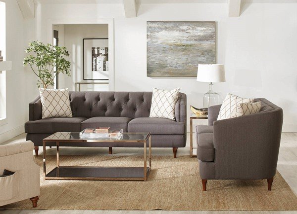 Coaster Furniture Shelby Grey 2pc Living Room Set CST-50895-LR-2PC