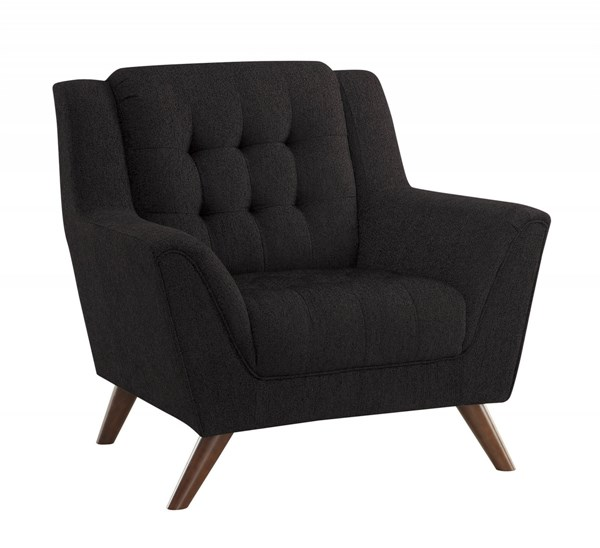 Baby Natalia Modern Black Fabric Pocket Coil Seat Tufted Chair CST-511036