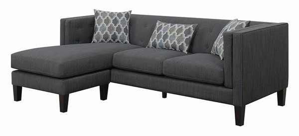 Coaster Furniture Sawyer Dusty Blue Houndstooth Sectional CST-511077