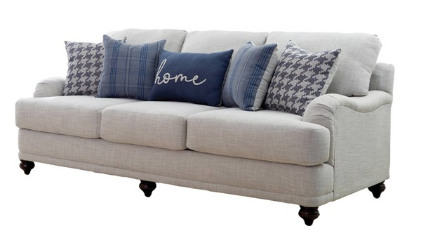 Coaster Furniture Gwen Light Grey Sofa CST-511091