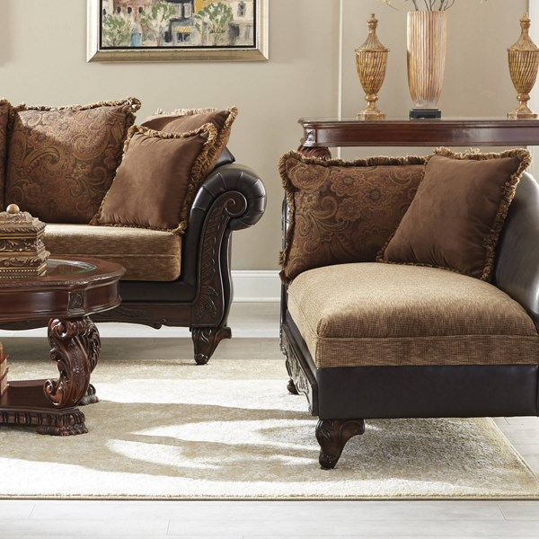 Garroway Traditional Chocolate Chenille Pocket Coil Seating Chaise CST-550020