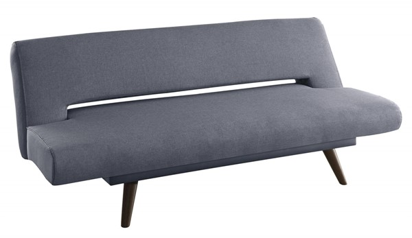 Grey Fabric Walnut Wood Legs Foam Seating Sofa Bed CST-550139
