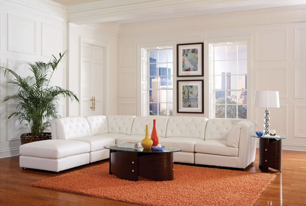 Coaster Furniture Quinn White Right Face Sectional CST-551021-S