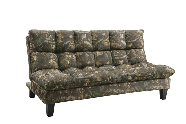 Autumn Camouflage Twill Pillow Top Side Storage Pocket Sofa Bed CST-551065