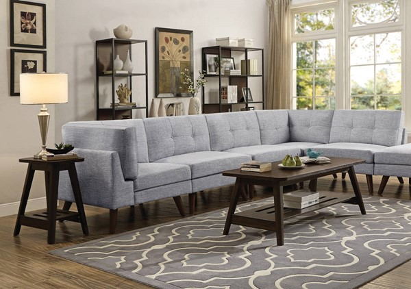 Coaster Furniture Churchill Grey 5pc Sectionals CST-55130-SEC-S-VAR2