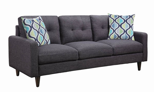 Coaster Furniture Watsonville Grey Fabric Sofa CST-552001