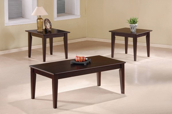 Coaster Furniture Cappuccino 3pc Occasional Table Set CST-5880