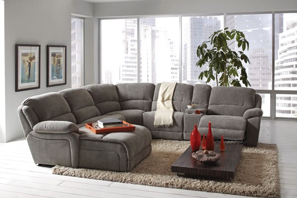 Mackenzie Motion Silver Fabric Sectional CST-600017